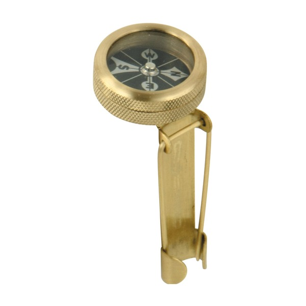 Marbles Pin-On Brass Compass