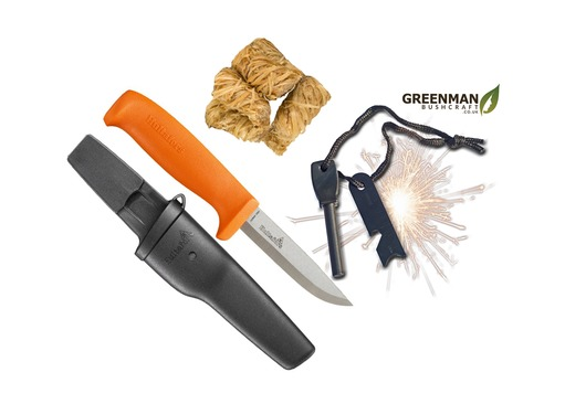 Bushcraft Knife and Fire Kit