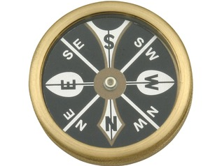 Marbles Large Brass Pocket Compass